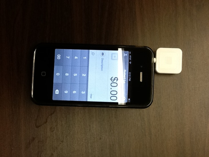 Square Reader plugged in iPhone
