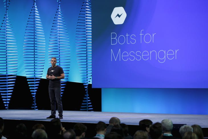 David Marcus, vice president of messaging products at Facebook, speaks on stage during the Facebook F8 conference in San Francisco, California April 12, 2016. REUTERS/Stephen Lam - RTX29NY3