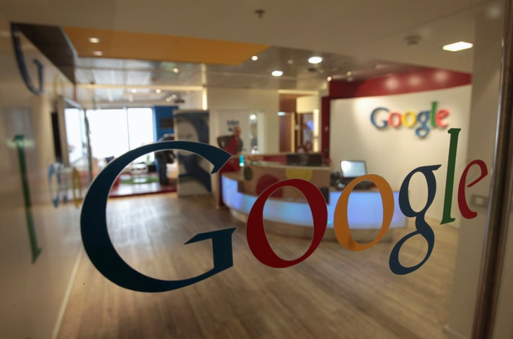 The Google logo is seen on a door at the company's office in Tel Aviv January 26, 2011. REUTERS/Baz Ratner/File Photo - RTX2JM6K