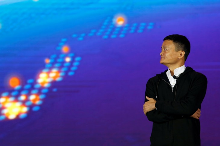 Founder and Executive Chairman of Alibaba Group Jack Ma attends Alibaba Group's 11.11 Singles' Day global shopping festival in Shenzhen, China, November 11, 2016. REUTERS/Bobby Yip - RTX2T8C7