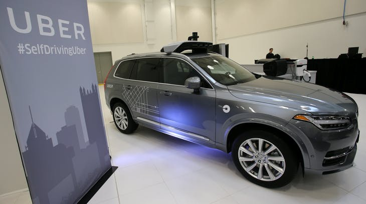 Uber's Volvo XC90 self driving car is shown during a demonstration of self-driving automotive technology in Pittsburgh, Pennsylvania, U.S. September 13, 2016.  REUTERS/Aaron Josefczyk - RTSNO60