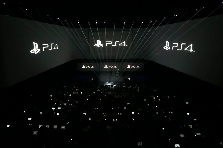 People attend the PlayStation 4 launch event in New York