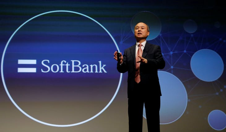SoftBank Group Corp Chairman and CEO Masayoshi Son attends a news conference in Tokyo, Japan, February 8, 2017.    REUTERS/Toru Hanai - RTX303ZW