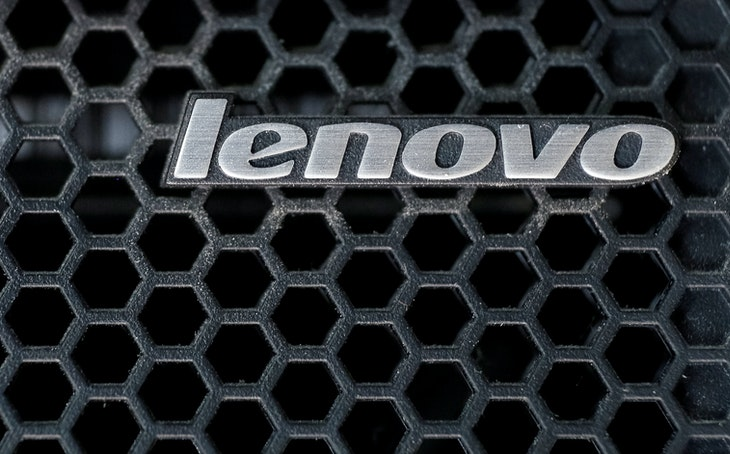 A Lenovo logo is seen at the computer in Kiev, Ukraine April 21, 2016. REUTERS/Gleb Garanich/File Photo     - RTSQY4N