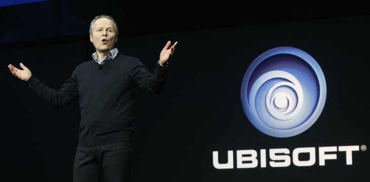 Ubisoft CEO Yves Guillemot speaks during the PlayStation 4 launch event in New York, February 20, 2013. REUTERS/Brendan McDermid (UNITED STATES - Tags: BUSINESS SCIENCE TECHNOLOGY) - GM1E92L0VVF01