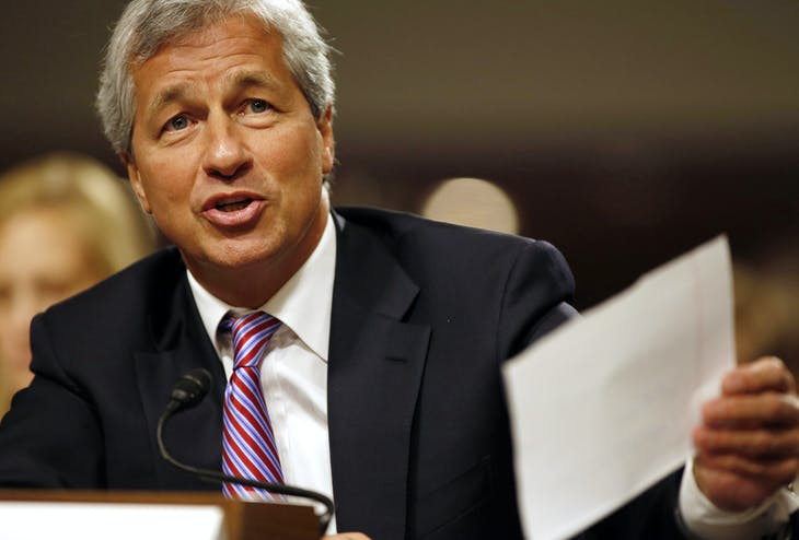 JP Morgan Chase and Company CEO Jamie Dimon answers a question at the U.S. Senate Banking, Housing and Urban Affairs Committee hearing  on Capitol Hill in Washington DC, June 13, 2012.     REUTERS/Larry Downing/File Photo - TM3ECB10VHH01