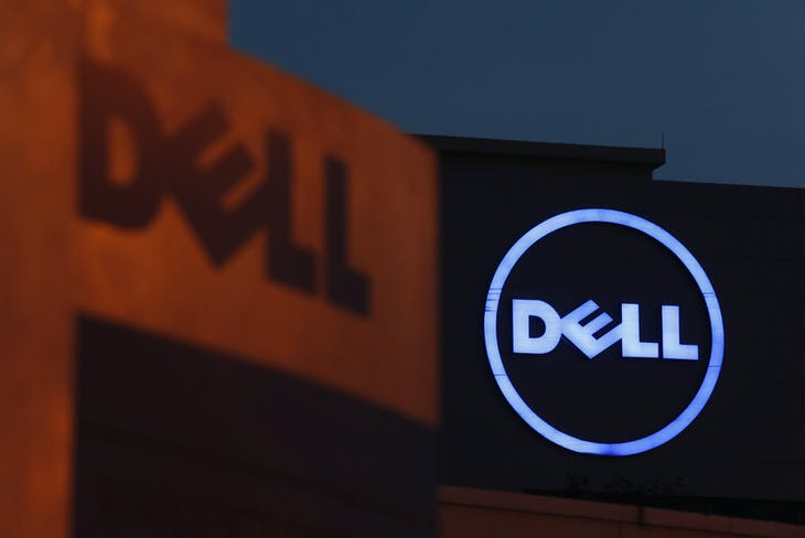 Dell logos are seen at its headquarters in Cyberjaya, outside Kuala Lumpur September 4, 2013. REUTERS/Bazuki Muhammad (MALAYSIA - Tags: BUSINESS LOGO SCIENCE TECHNOLOGY) - GM1E9941MTI01