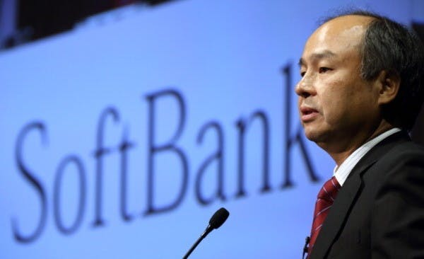 Masayoshi Son, chairman and chief executive officer of SoftBank Corp., speaks during a news conference in Tokyo, Japan, on Tuesday, July 30, 2013. SoftBank, the Japanese carrier that acquired Sprint Corp for $21.6 billion, posted profit that beat analyst estimates after using Apple Inc.'s iPhone and acquisitions to lure subscribers. Photpgrapher: Tomohiro Ohsumi/Bloomberg via Getty Images