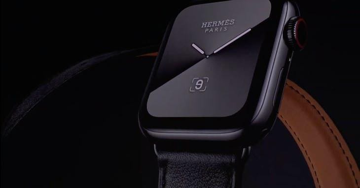 ▲Hermes Black 愛馬仕聯名款 Apple Watch Series 5。Photo Credit: 發表會截圖