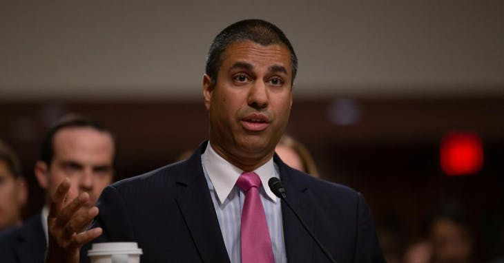 FCC主席 Ajit Pai    △ Photo Credit: Shutterstock/ TPG Images